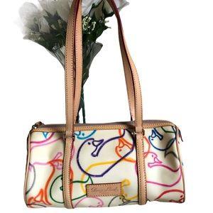 Dooney & Bourke Wonder Duck Print Barrel Bag New